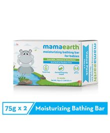 Mamaearth Moisturizing Baby Bathing Soap Bar Pack Of 2 - 75gm