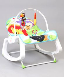 Fisher Price Infant To Toddler Rocker Animal Design - Green