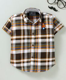Dapper Dudes Checks Half Sleeves Shirt - Multi Color