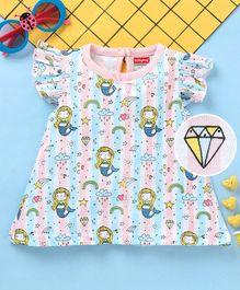21a778f3967 Babyhug 100% Cotton Cap Sleeves Nighty - Pink   Blue