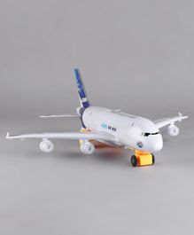 Kids Air Bus Plane Toy With Light - White