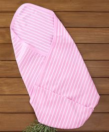 Zero Striped Wrapper - Pink White