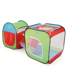 Portable Tunnel Play Tent House - Multicolour