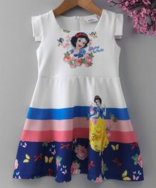 Peppermint Sleeveless Snow White Print Dress - White