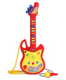 Kids Guitar With Microphone - Red