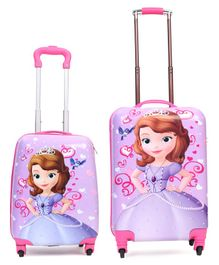 Disney Sofia the First Kids Trolley Bags Set of 2 - Pink