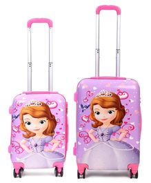 Disney Sofia the First Kids Trolley Bags & Backpack Set of 2 - Pink