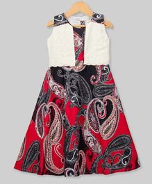Young Birds Paisley Print Sleeveless Dress - Red