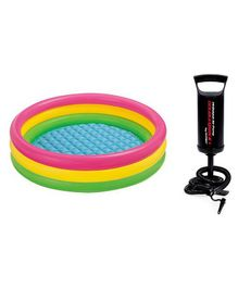 Intex Swimming Pool 3 Feet With Hand Pump - Multi Colour