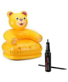 Intex Kids Teddy Chair & Hand Pump - Multicolour