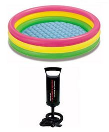 Intex Swimming Pool 5 Feet With Hand Pump - Multi Colour