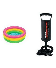 Intex Swimming Pool 2 Feet With Hand Pump - Multi Colour