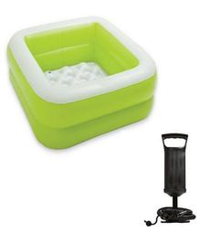 Intex Baby Pool With Hand Pump - Green
