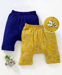 Earth Conscious Combo Of 2 Waistband Elasticated Pants - Blue & Yellow
