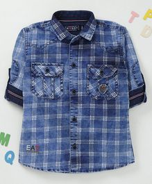 Noddy Checked Full Sleeves Shirt - Blue
