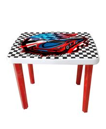 Kuchicoo Table Car Print - White Red