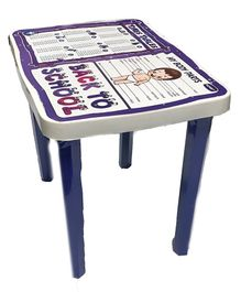 Kuchicoo Table With Charts - White Blue