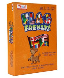 CocoMoco Kids Flag Frenzy Flag Card Game - 58 Cards