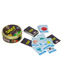CocoMoco Kids Solar System Snap Flash Card Game Black - 72 Cards
