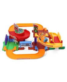 Battery Operated Flyover Toy Train Set - Multicolour