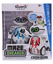 SilverLit Maze Breaker Robot Toy With Sound Effect And Music - Blue White