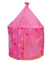 Star Printed Play Tent - Pink