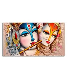 Studio Shubham Radha Krishna Wooden Key Holder - Multicolour