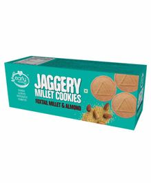 Early Foods Organic Whole Wheat Beetroot Jaggery Cookies - 150 gm