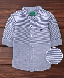 UCB Full Sleeves Striped Shirt - Blue