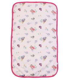 Kadam Baby Diaper Changing Mat Cars Print - White Red