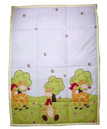 Kadam Baby Rectangular Play Mat Giraffe Patch - Green