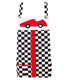 Kadam Baby Diaper Stacker Basket Car Embroidery - Red Black