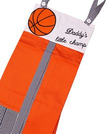 Kadam Baby Diaper Stacker Basket Ball Embroidery - Orange