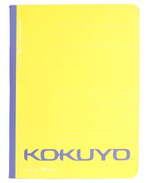 Kokuyo Single Line Notebook Yellow - 160 Pages