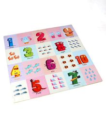 Hrijoy Eva Puzzle Mini Mat With Numbers - Multicolour
