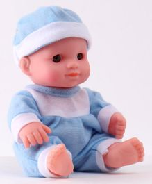 IndiaBuy Darling Lovely Baby Doll Aqua & White - Height 12.5 cm