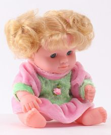 IndiaBuy Darling Lovely Baby Doll Pink - Height 12.5 cm