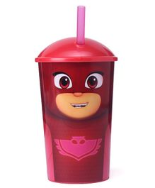 Disney PJ Masks Sipper Tumbler With Straw Red - 400 ml