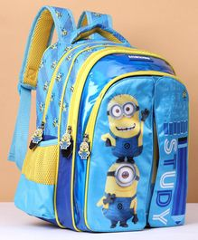 Minion Flap School Bag Blue & Yellow - 14 Inches