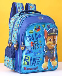 Paw Patrol School Bag With Velcro Blue - 14 Inches
