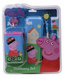 Peppa Pig Stationery Kit Set of 5 With Tin Case - Blue