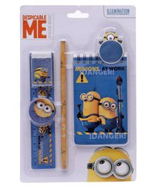 Minions Stationery Set Multicolour - Set Of 5 Pieces