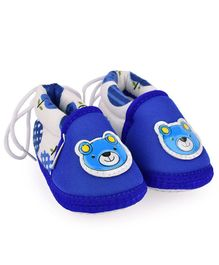 Morisons Baby Dreams Baby Booties Bear Patch - Blue