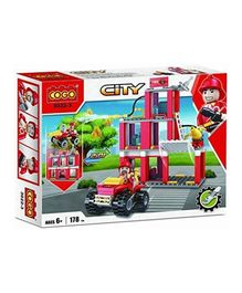 Cogo 2 in 1 Convertible Fire Fighter And Rescue Blocks Set - 178 Pieces