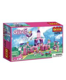 Cogo Princess Castle Palace Building Blocks Set Multicolour - 346 Pieces