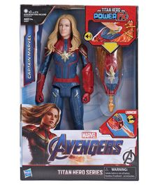Marvel Avengers Captain Marvel Action Figure Blue Red - Height 14.5 cm