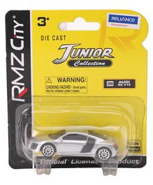 RMZ Die Cast Audi R8 V10 Free Wheel Car - Silver