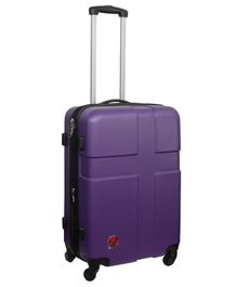 T-Bags ABS Luggage Trolley Bag Purple - 24 Inches