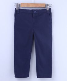 Beebay Solid Full Length Trouser - Navy Blue