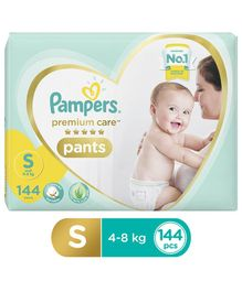 Pampers Premium Care Pant Style Diapers Small Size Monthly Pack - 144 Pieces
